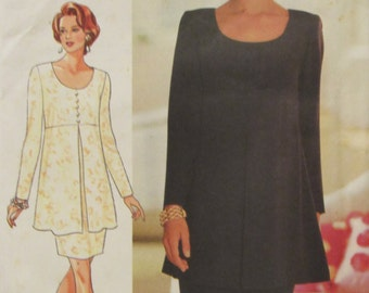 Butterick 3722 Uncut Sewing Pattern Misses Womens Dress Size 6-12 Bust 30.5-34 in Easy Sew 1994