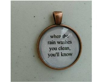 Fleetwood Mac Dreams lyric quote necklace