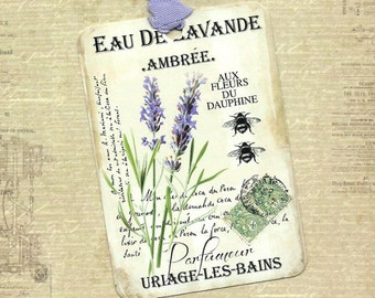 Tags, Lavender, Gift Tags, Lavender Tags, Bee Tags, Party Favors, Labels