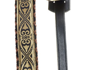 Tony Hand Laced Brocade Guitar Strap