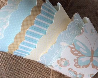 15 Shabby Chic Cupcake Wrappers Vintage Cupcake Wrappers SALE