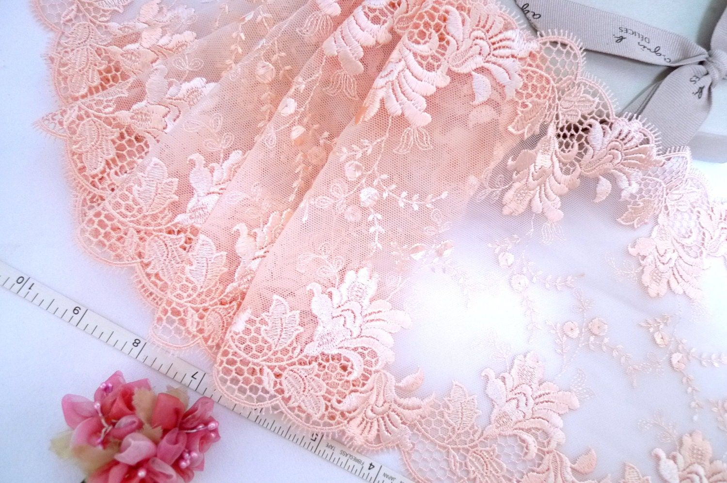 Lace Trim Embroidered Tulle Lace Embroidered Net Trim