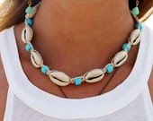 Hemp Shell Necklace, Cowrie Shell Necklace, Shell Choker,  Hemp Choker, Sea Shell Necklace, Hemp Jewelry