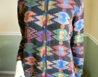 Alpaca Fur Sweater / Peruvian Knit Sweater