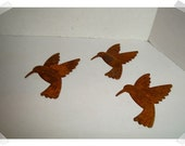 Rusty Metal Humming Bird Cutouts/Set of 3/Craft Supplies*
