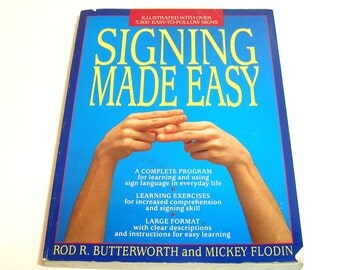 Signing Made Easy, Sign Language Book, Vintage Book
