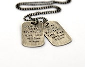 New Mum Gift, Childrens Birth Details, New Baby Gift, Dog Tag Necklace, Mothers Day Gift, New Mom Necklace, Childrens Birth Details