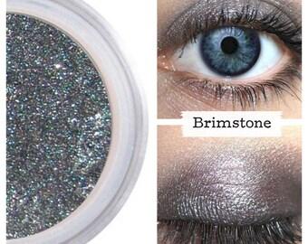 Eyeshadow, Brimstone, Pewter Eye Shadow, Mineral Eyeshadow, Mineral Makeup, Vegan, Cruelty Free, Eye Makeup, Smokey Eye, Smoky