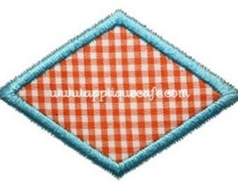422 Mini Diamond Patch Machine Embroidery Applique Design