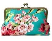 Clutch purse, Amy Butler Bliss, Christmas, bridesmaid, wedding, birthday, summer clutch, bridal party gift