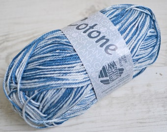 Knitting  yarn, Destash yarn, blue, grey yarn, Sport weight, Y210
