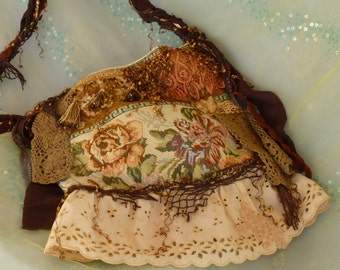 Gypsy Bag, Altered Purse, OOAK Purse, Fabric Bag by mystic2awesome