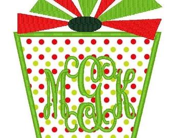 Christmas Present 2 Machine Embroidery Applique Design