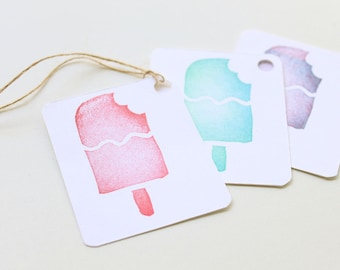 ICE CREAM favour tags, ice cream gift tags, thank you tags, ice cream favour bag tags, shopkins tags X 10