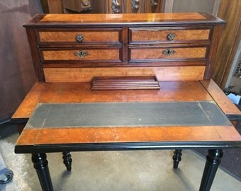Antique Writing Desk Pull Out Top 5 Drawers 31w28.5h38h18d Shipping is Not free