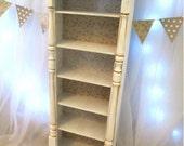 Miniature bookcase Shabby Chic Furniture1/6 scale