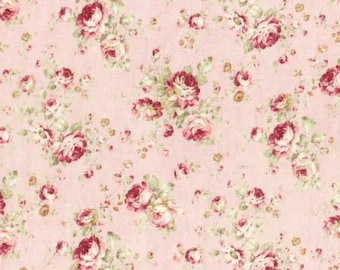 Durham Quilt 2016 Collection by Lecien Cotton Fabric 31337-20 Pink Roses on Pink