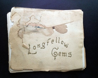 Longfellow Gems W. Goodrich Beal 1889 Samuel E Cassino Original Watercolor Cover