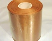 Wholesale gold 4 inch wide double faced satin ribbon roll 25 yds wedding bridesmaid bridal party sash bouquets wedding sewing
