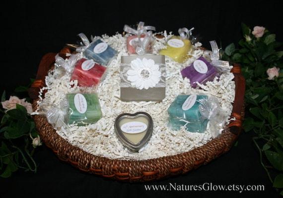 Candle Wedding Gift: Bridal Candle Basket Wedding Candles Bridal Shower Candle