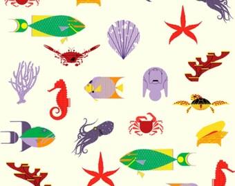 Birch Fabrics - Maritime Collection - Maritime Main in Cream Organic
