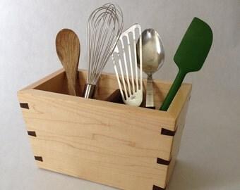 Kitchen untensil holder/organizer made of solid Hard Maple