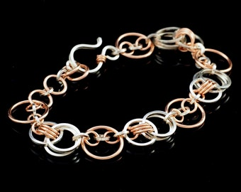 Champagne Bracelet in 14kt Rose Gold Filled and Argentium Sterling Silver