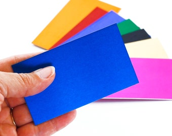 5 Aluminum Stamping Blanks, Business Cards, Discs, Tags - 2 inches X 3 1/2 inches - You Pick Color - Economical, Lightweight