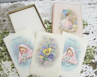 Vintage Coronation Collection greeting cards set of 3 in box