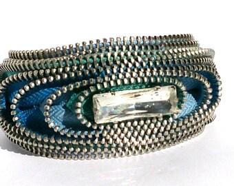 Space Rainbow Blue Cuff Bracelet