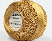 Light Brown Mimosa Size 10 Microfiber Crochet Thread -Ice 39144- 50 gram 273 yds - For Bedspread, Needlepoint, Cross Stitch, Fiber Jewelry