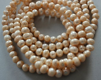 Creamy Freshwater Pearl Strand - Length Drilled Full 16 Inch Strand