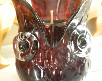 Purple Hooty Owl Gel Candle