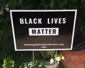 Black Lives Matter Yard Sign With Stake