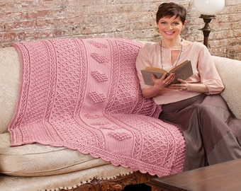 Cozy Crocheted Heart Afghan