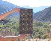 2017 Moon Calendar - Gold Foil on Black Edition