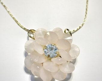 Rose petal necklace