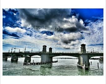 """12"""" x 18"""" Saint Augustine, FL Lion's Bridge Canvas Print"""