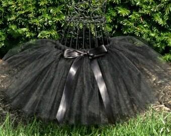 Halloween black cat- Black Cat tutu- Black Cat Costume- Black Swan tutu- cat costume- cat tutu- Girls black tutu-Baby black cat tutu