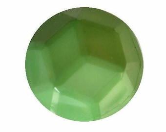 Green Facet Dome button (no.00396)*Available in Quantity*