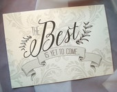 The Best Is Yet To Come Layered Pocket Wedding Invitation - Sample