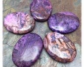 Mexican Purple Crazy Lace Agate Oval Bead, 30x40mm, Cabochon 1 PC, Wire Wrap, Setting Stone