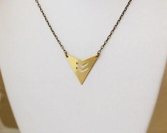 SALE Geometric Triangle Necklace. Modern Geometric Jewelry