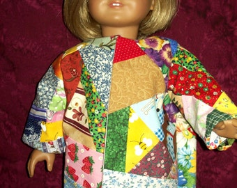 "Fits 18""  dolls - Coat of Many Colors"