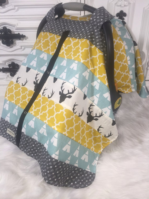 Car Seat Cover STUNNING patchwork / nursing cover