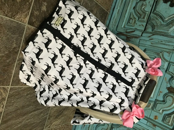 Car seat canopy Flannel Deer Print  / Car seat cover / car seat canopy / carseat cover / carseat canopy / nursing cover