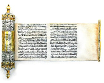 Judaica, Book of Esther, Purim, scroll, watercolor, print of original watercolor painting, watercolor art, fine art painting, Bible story