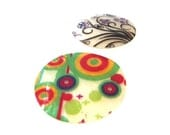 SALE - Supplies - Two Capiz Shell Pendants - Colorful - Boho - Great for jewelry, chimes and more