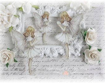 Winter Fairy Die Cut Embellishments for Scrapbooking, Cardmaking, Mixed Media, Altered Art
