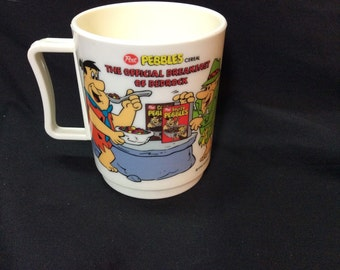 Fruity Pebbles Mail Away drink cup - 1990